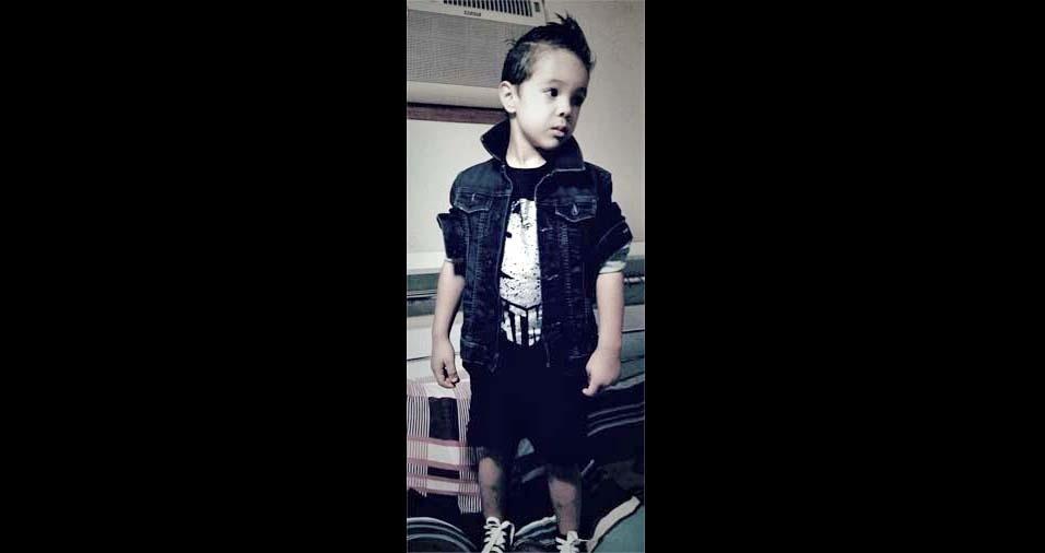 Vanessa e Carlos Henrique enviaram foto do Henrico, de quatro anos