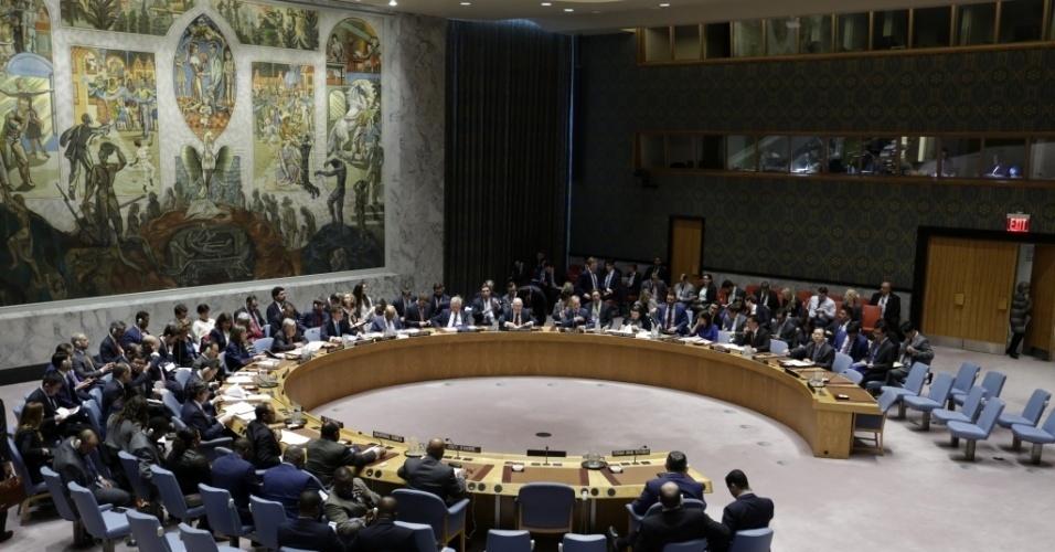 Conselho de Segurança da ONU realiza reunião de emergência na manhã deste sábado (14), na sede da organização em Nova York, nos EUA, após ataque aéreo contra a Síria feito por EUA, Reino Unido e França