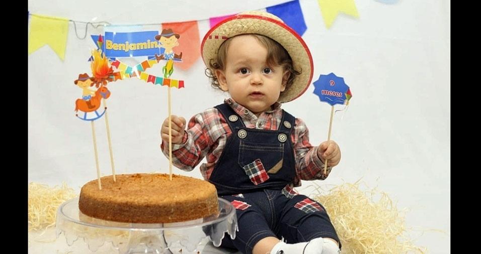 Reginaldo França Barbosa é o papai do pequeno Benjamin, de nove meses. Eles moram em São Paulo (SP)
