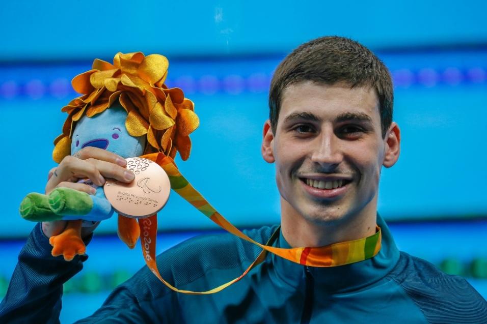 12.set.2016 - Talisson Glock foi bronze na natação, disputando os 200 metros medley da categoria SM6