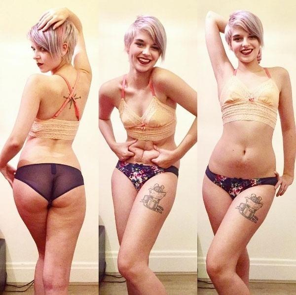 12.fev.2017 - O perfil de Connie Inglis no Instagram conta com quase 45 mil seguidores. A jovem britânica faz questão de compartilhar fotos do seu corpo, com mensagens de autoestima, após superar um transtorno alimentar