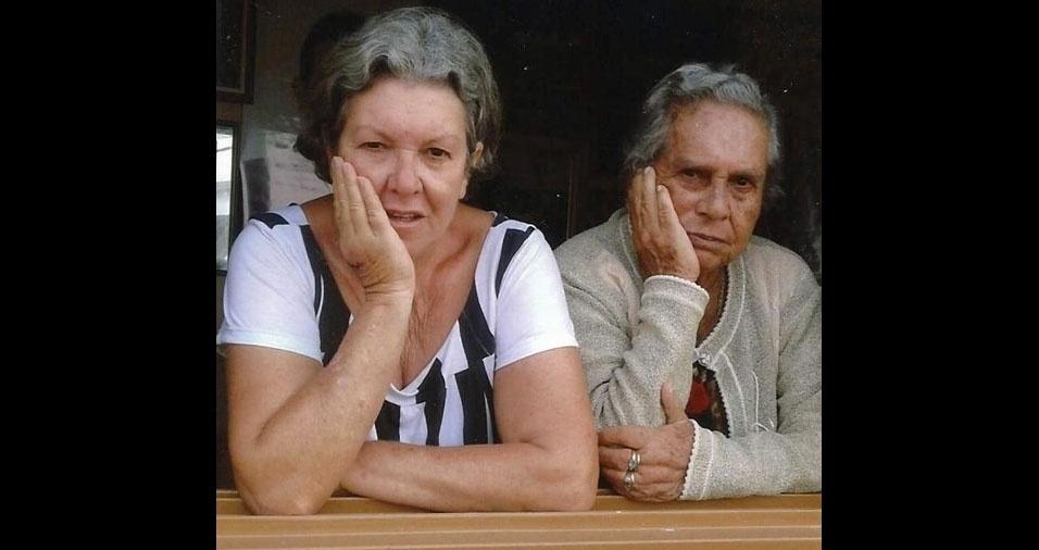 Dalise com a mamãe Ate, de Santana da Vargem (MG)