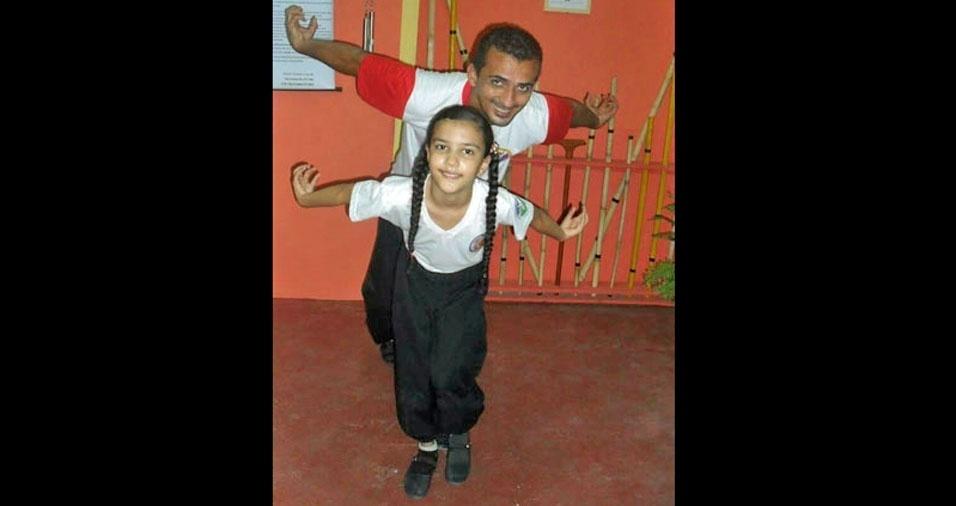 Papai Shifu e sua filha Alícia, de Boa Vista (RO)