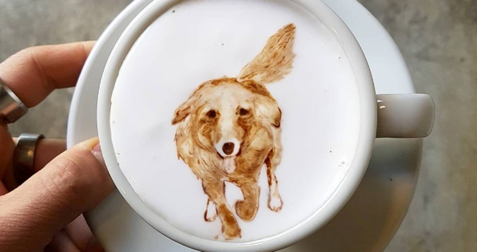 33. Já pensou ver o seu cachorro em uma xícara de café?