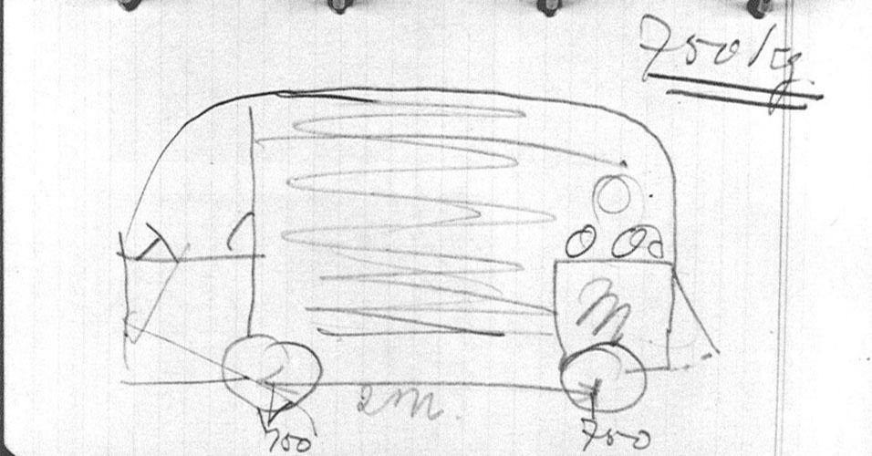 1. A Kombi foi idealizada pelo importador holandês Ben Pon, que imaginou um veículo leve de carga usando o conjunto mecânico do Fusca. O primeiro esboço do carro foi desenhado em sua caderneta de anotações em abril de 1947