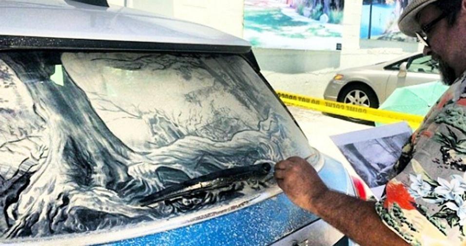 19. Um artista de carro sujo em ação em foto postada no Instagram