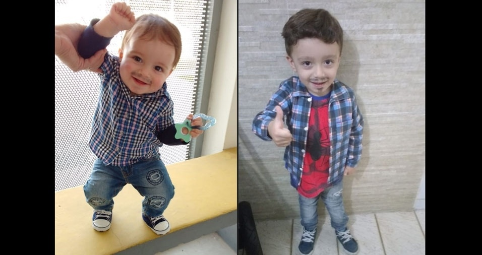Andres Fernandes e a esposa Cláucia Polisel Fernandes, de  Carapicuíba (SP), enviaram foto dos filhos Pierre, que completa 1 ano em 19 de junho e Ryan, de três anos