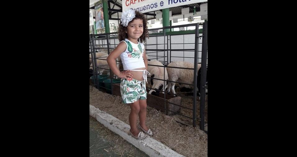 Elaine Medeiros Godoi, de Ponte Nova (MG), enviou foto da filha Sofia