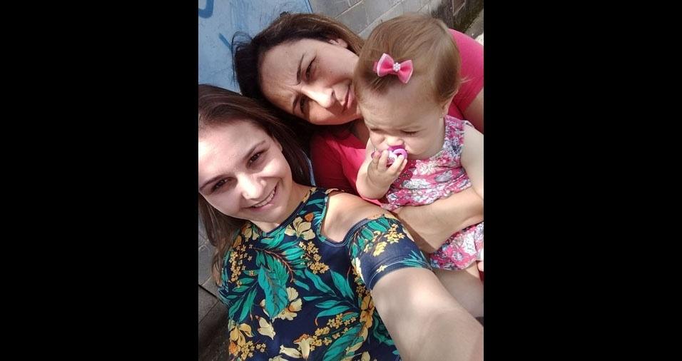 Gabriela Gasparelli dos Santos é filha da Jucineide Gasparelli e mãe da Manuela, de São Roque (SP)