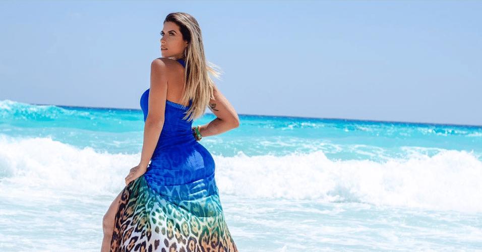 3.abr.2017 - Ana Paula Minerato visitou as paradisíacas praias do Caribe e compartilhou algumas fotos tiradas para um ensaio