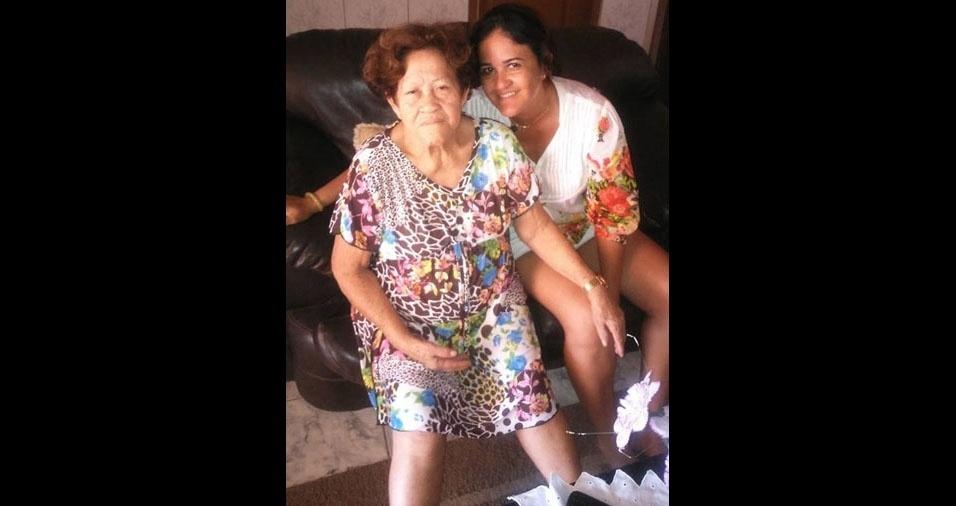 Leila com a mamãe Dona Flor