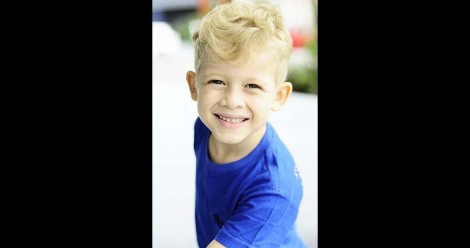 Elaine, de Belém (PA), enviou foto do filho Israel Botelho, seis anos
