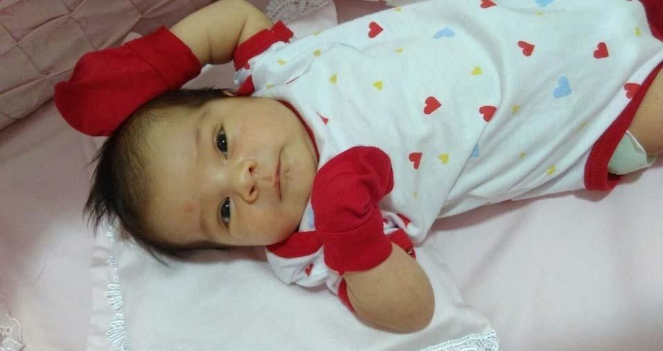 Josielton e Aristélia, de Esperança (PB), enviaram foto da filha Manuella