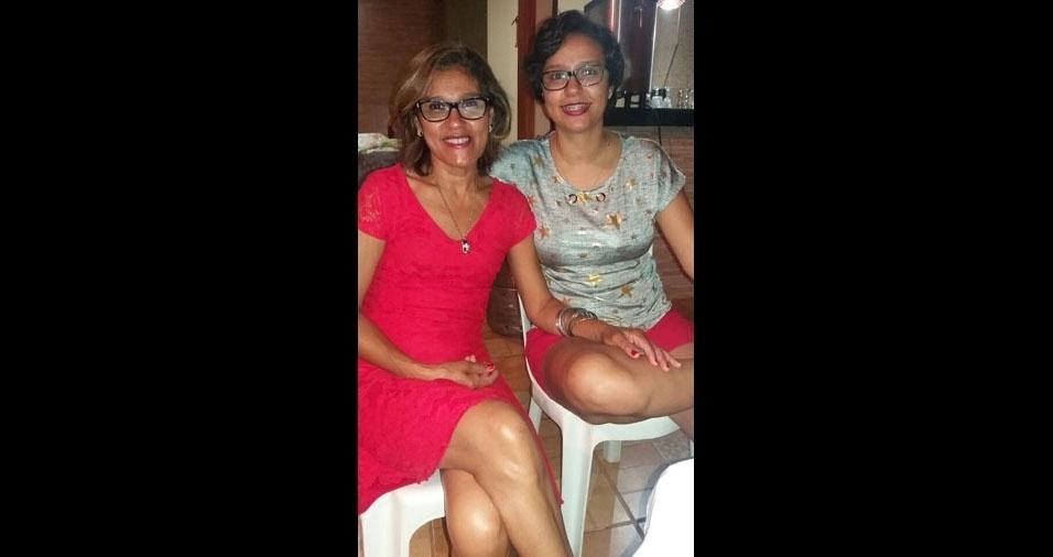 Rita de Cássia Alves com a filha Ariane Gabrielle Alves, de Orlândia (SP)