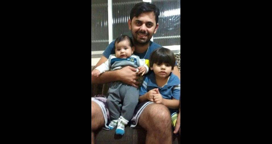 Ryan Lucas e Luan Henrique são os filhos do papai Rhowan