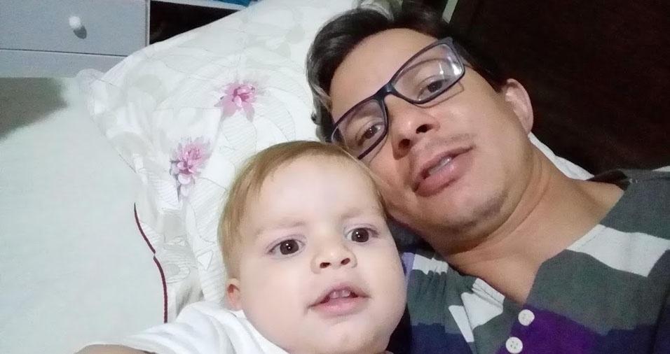 Leonam com o papai Nelson da Silva Ferreira, de Bauru (SP)