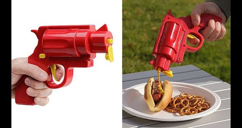 9. Atire muita mostarda em seu hot-dog