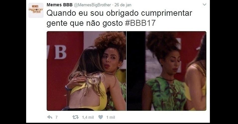 """27.jan.2017 - Carão no """"BBB17""""? É o que alguns internautas (e alguns brothers também) estão apontado em Gabriela Flor"""
