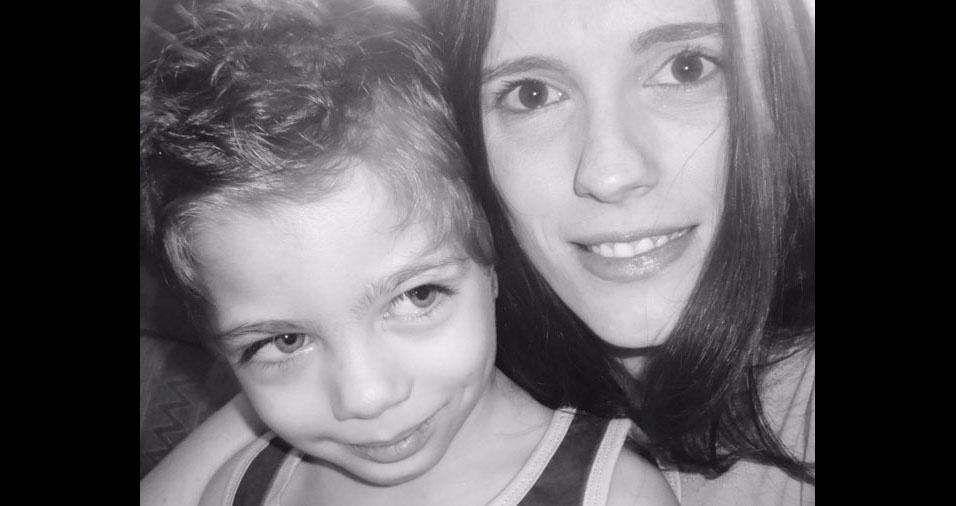 Priscila Bolognese e o filho Davi, de São Paulo (SP), também enviaram foto para partidipar do Dia das Mães no BOL