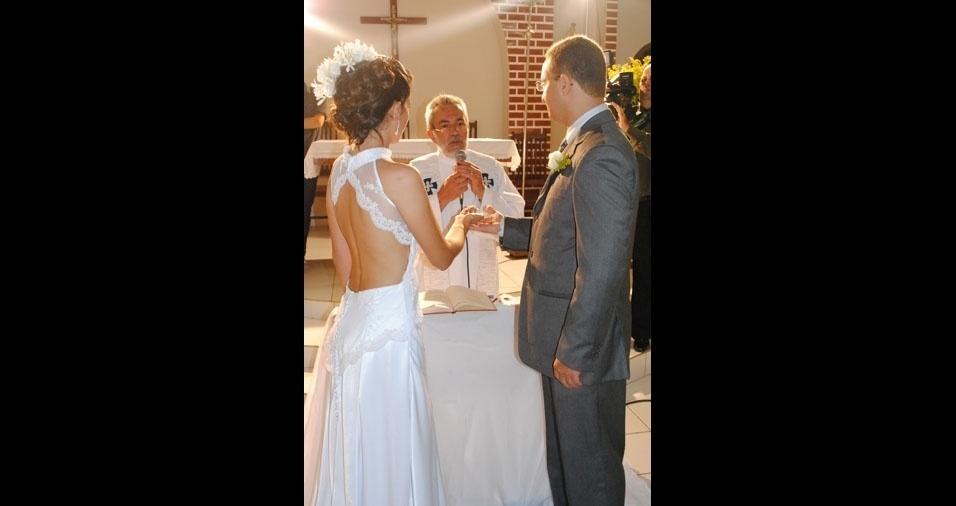 Os noivos Gabriela e Michael estão casados desde 12 de março de 2011. O casamento aconteceu em Gravatá (PE)