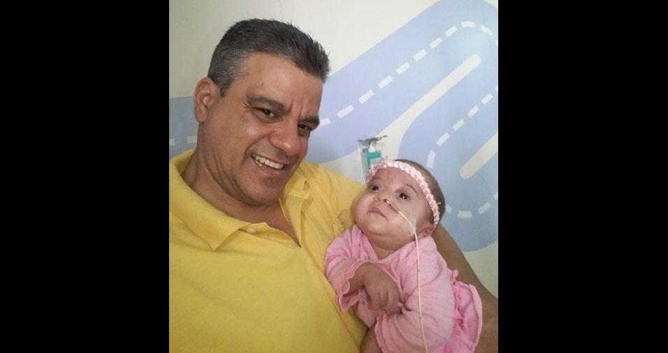 O papai Alexandre e a filha Rafaela, de Rio de Janeiro (RJ)