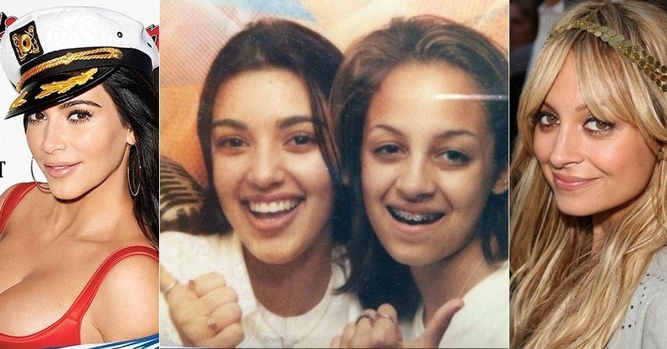 31.jul.2015 - As socialites americanas Kim Kardashian (esq.) e Nicole Richie são amigas desde a adolescência. O tempo fez bem para as duas, não? Principalmente para Nicole...