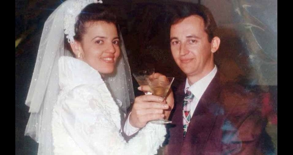 Luiz Henrique Ranuci e Denise Storel Ranuci se cansaram no dia 20 de julho de 1996, na igreja matriz de Cornélio Procópio (PR)