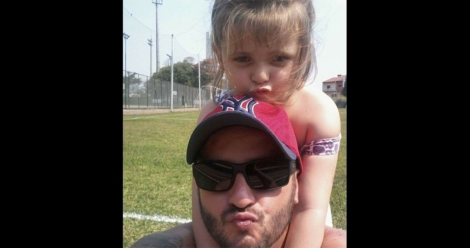 Renato com a filha Laura Beatriz, de Santo André (SP)