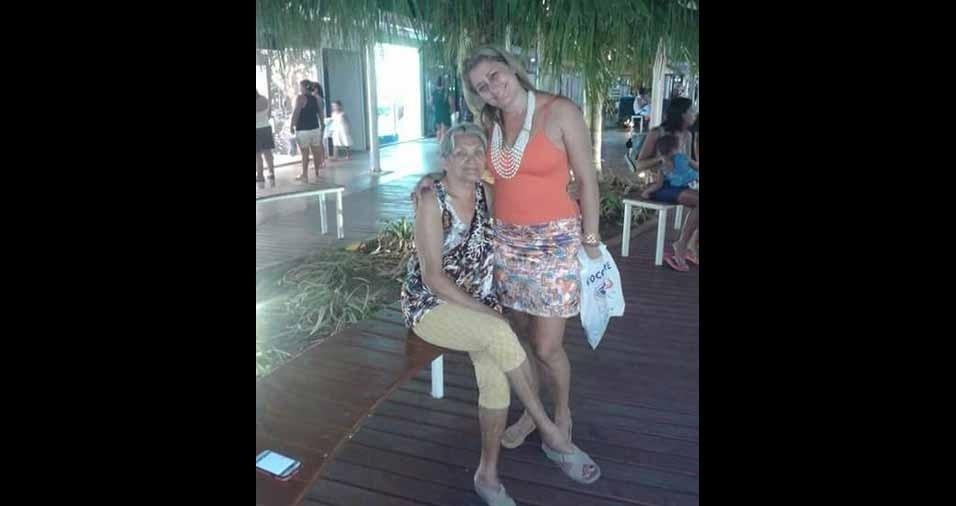 Patricia, de São Gonçalo (RJ), homenageia a vovó Raimunda Bezerra, de 80 anos, que mora em Belém (PA)