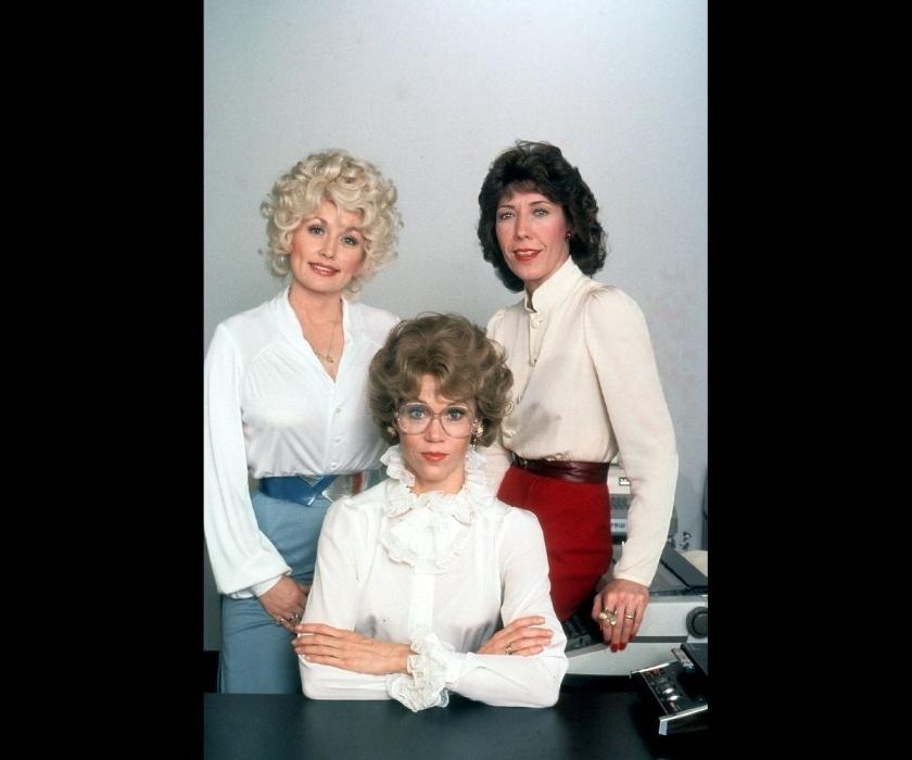 """1980 - Dolly Parton, Jane Fonda (centro) e Lily Tomlin em """"Como Eliminar seu Chefe"""""""