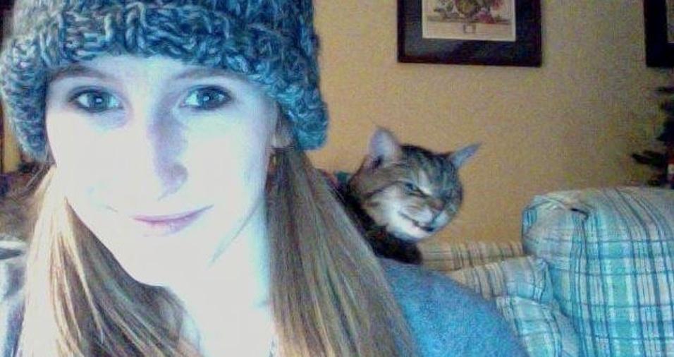 6. Até quando realmente não querem ser fotografados, os gatos acabam sendo o foco da imagem