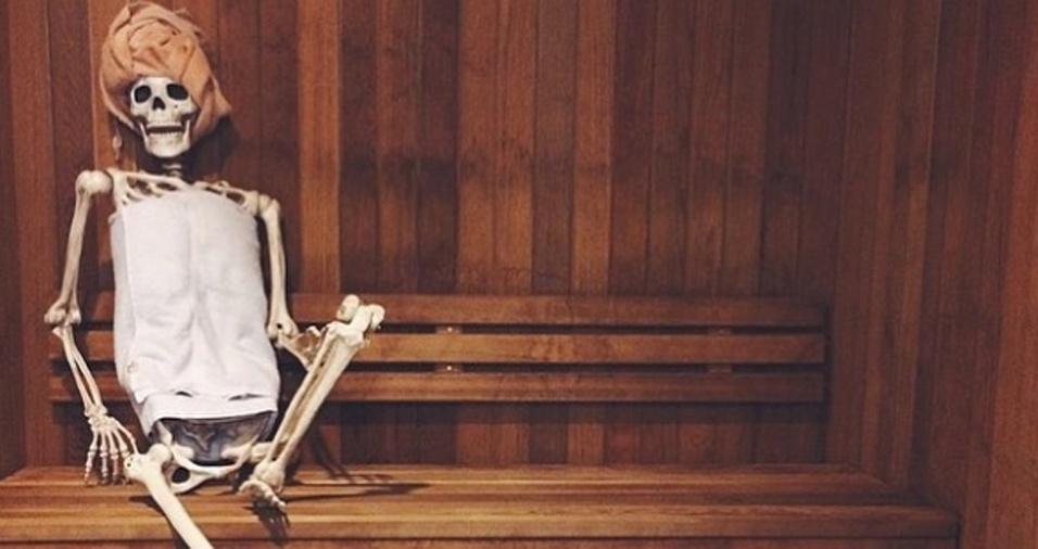 35. Sauna é tão relaxante, não é mesmo?