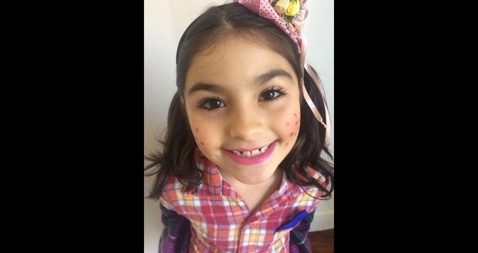 Jenifer Anduca enviou foto da pequena Isabelli, de dez anos, que mora em São Paulo (SP)