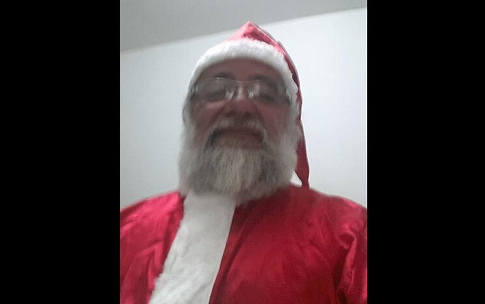 Papai Noel Ronaldo Quintela de Andrade, de Congonhas (MG)