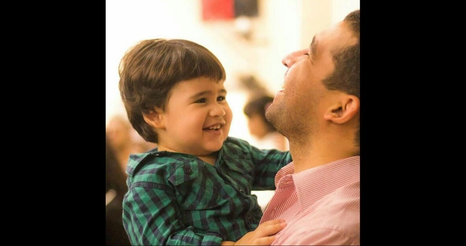 Joelson Sousa com o filho Bernardo