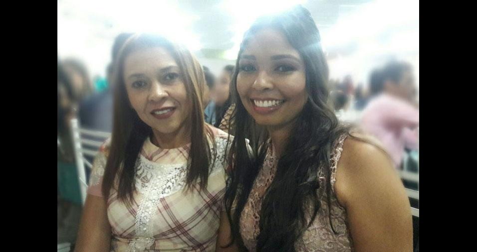 Daiane da Costa Rocha com a mãe Maria Lúcia Gomes da Costa Rocha, de Ribeirão Preto (SP)