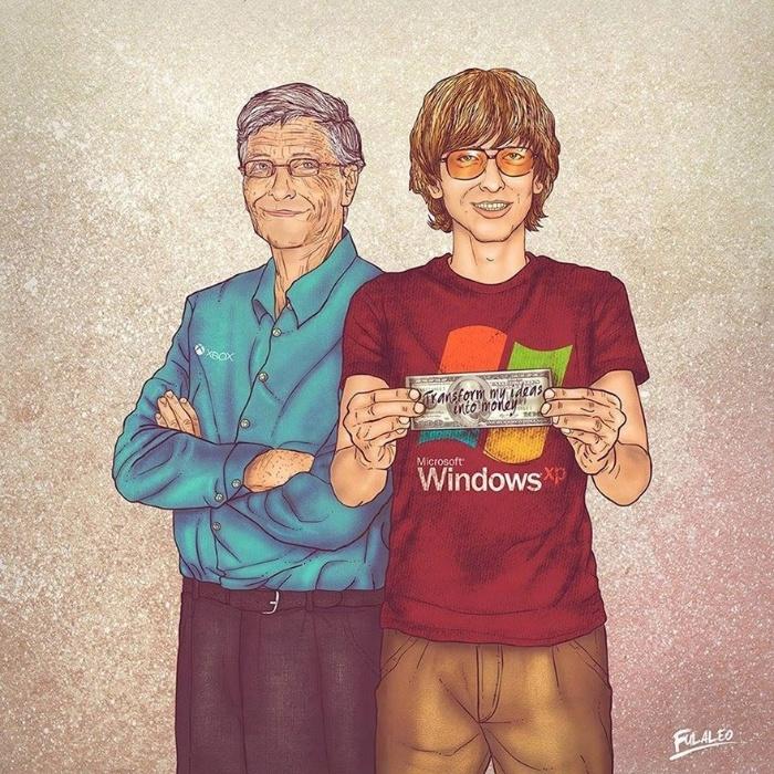 Bill Gates, fundador na Microsoft e homem mais rico do mundo, com fortuna avaliada em 79 bilhões de dólares (registro de 16 de setembro de 2015)
