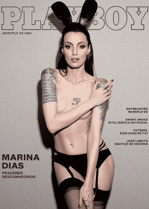 """Jun.2016 - A modelo Marina Dias foi a estrela do ensaio de capa da revista """"Playboy"""" de junho/julho - Reprodução/Playboy - Reprodução/Playboy"""