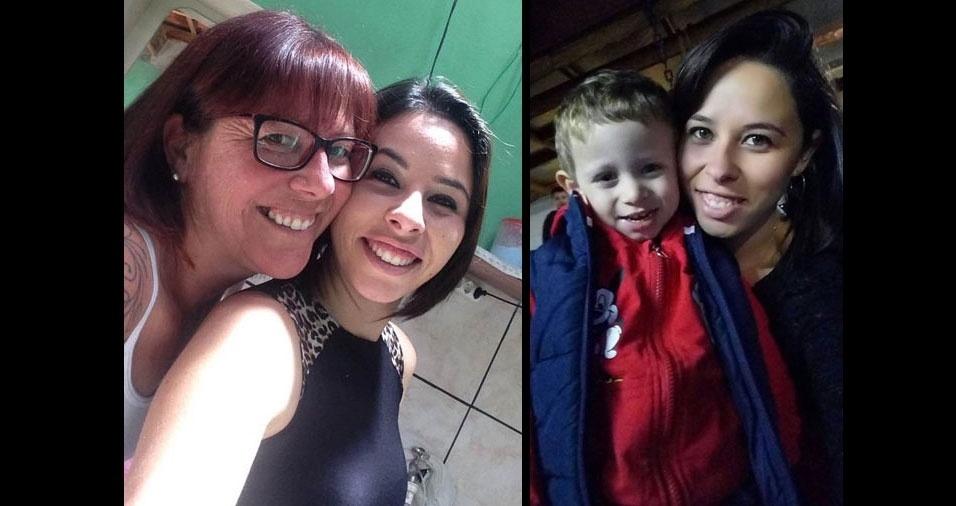 Monica, de Jarinu (SP), com a mamãe Rosana e com o filho Entony