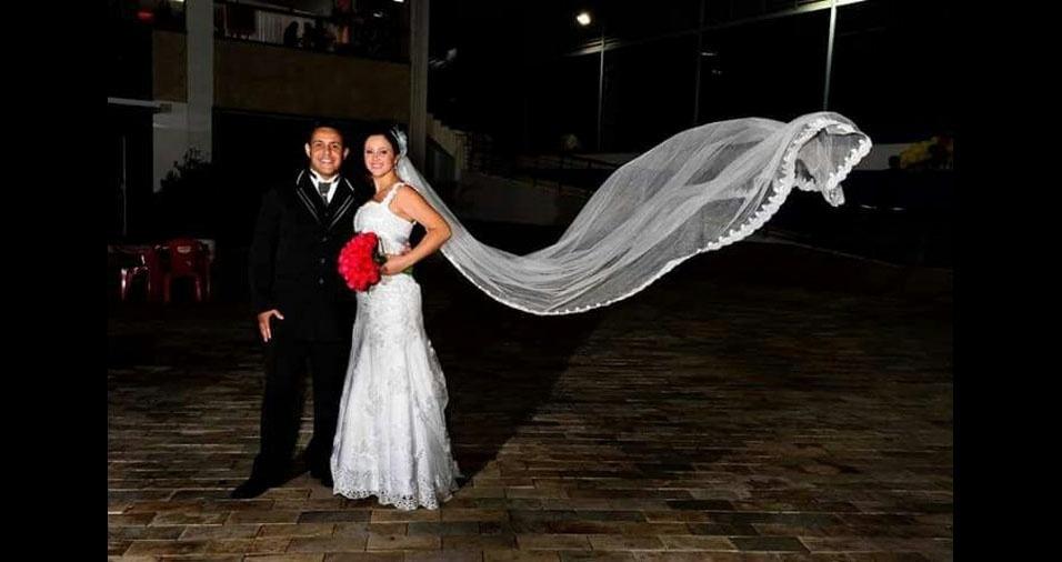 Josy Soares Pereira e Rogério de Oliveira Batista se casaram no dia 8 de novembro de 2014, em Diadema (SP)
