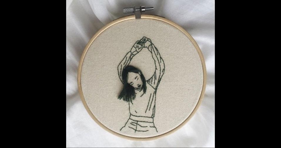 20. Trabalho em bordado da artista Sheena Liam