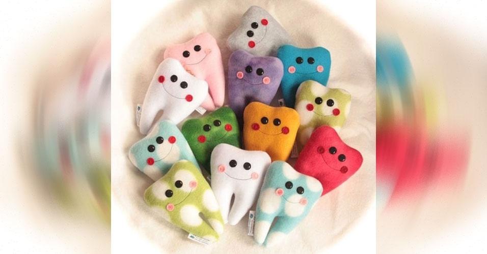 13. Travesseiros no formato de dentes para a fase em que as crianças estão perdendo os dentes de leite