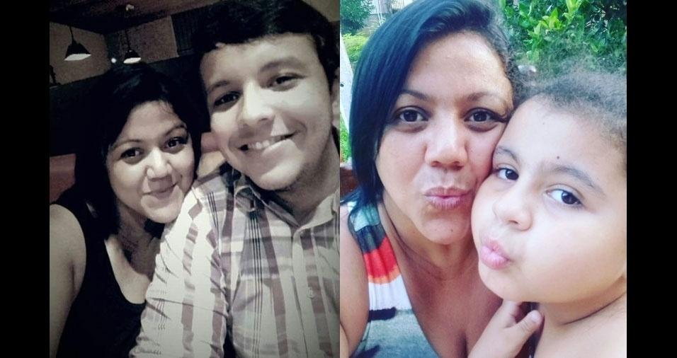 Andréa Cavalcante, de Maceió (AL), com o filho Leandro José e com a filha Laíza Mara