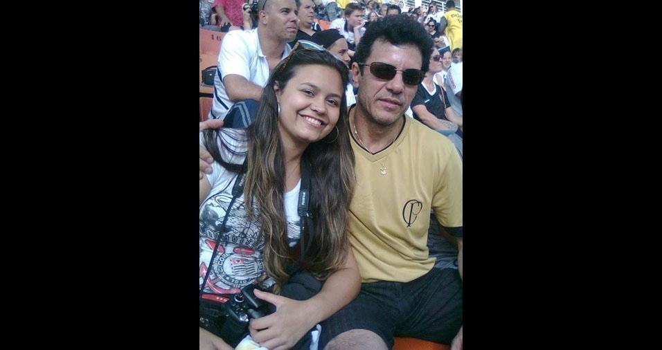 Luis Roberto com a filha Pâmela, de Jacareí (SP)