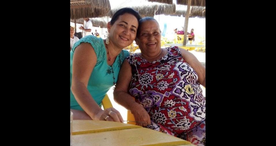 Francy com a mãe Edite, de São Luís (MA)