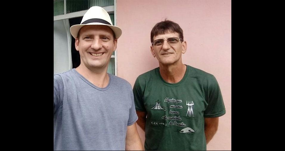 Julio Junior Moresco (esquerda), de Primavera do Leste (MT), com o pai Augusto Moresco, de Toledo (PR)