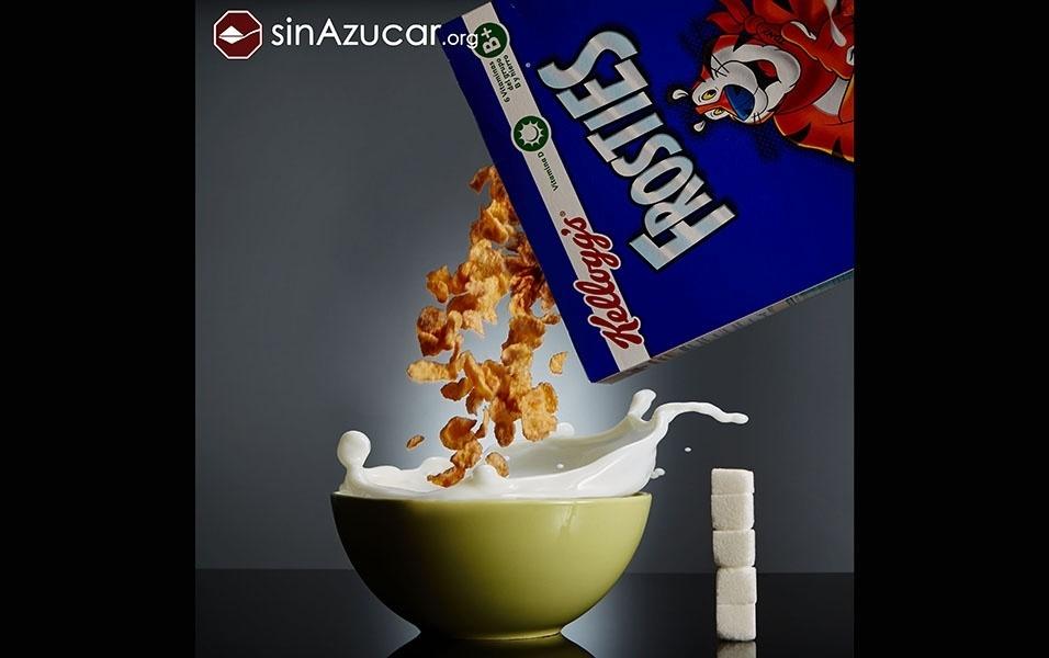 50 g de cereal Kelloggs possui 18 g de açúcar