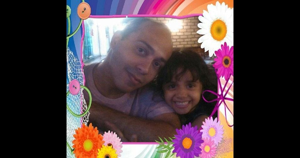 O papai David com sua filha Gabriela, de Rio de Janeiro (RJ)