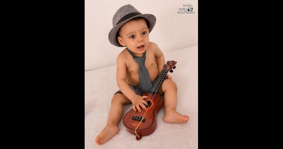 Antonio Carlos enviou foto do filho Antonio Netto, de dez meses