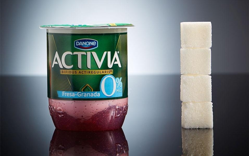 Versão light do Activia, da Danone, possui 16g de açúcar